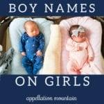 boy names on girls