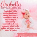 Arabella: Baby Name of the Day