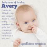 Avery: Baby Name of the Day