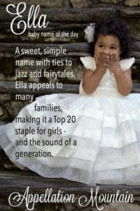 Ella: Baby Name of the Day