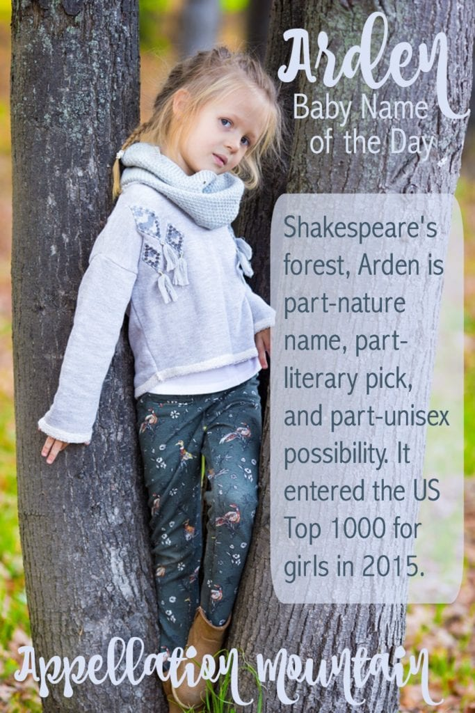 Arden: Baby Name of the Day