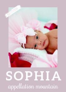 baby name Sophia