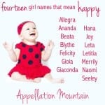 Happy Names for Girls: Allegra, Blythe, and Gioia