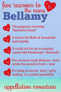 Bellamy: Baby Name of the Day
