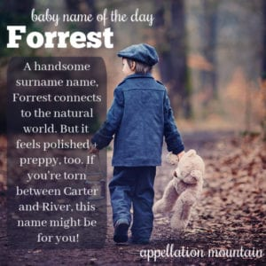 Forrest: Baby Name of the Day