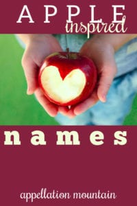 baby names inspired by apples
