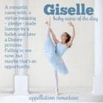 Giselle: Baby Name of the Day