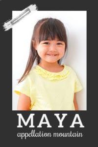 baby name Maya
