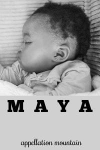 girl name Maya