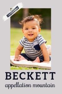 baby name Beckett
