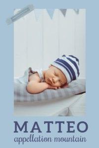baby name Matteo