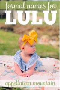 Lulu names