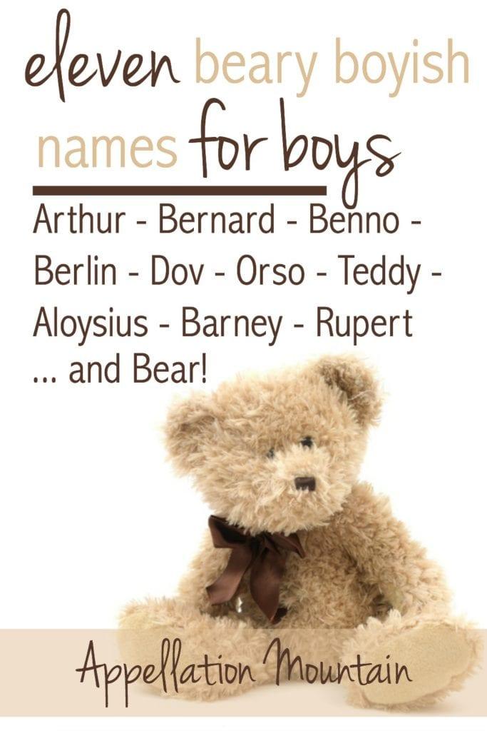Nicknames for teddy bears
