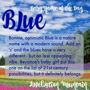 Blue: Baby Name of the Day