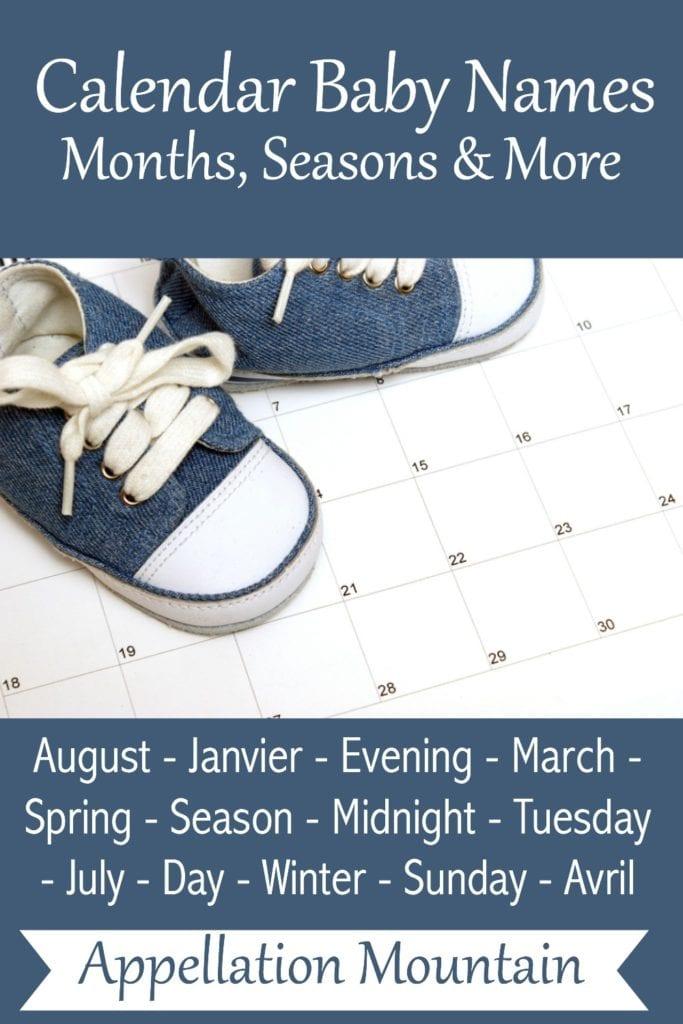 Calendar Baby Names