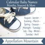 Calendar Baby Names from Months and Seasons