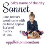 Sonnet: Baby Name of the Day