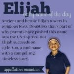 Elijah: Baby Name of the Day