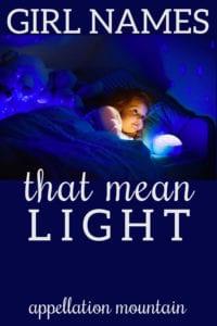 girl names meaning light