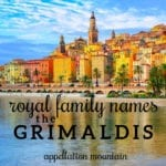 Grimaldi Royal Family Names