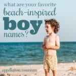 Beach Boy Baby Names: Kai, Reef, Cove, Dune