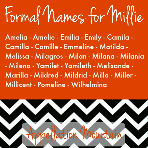 Formal names vatozozdevelopment formal names for millie millicent amelia and more appellation urtaz Images