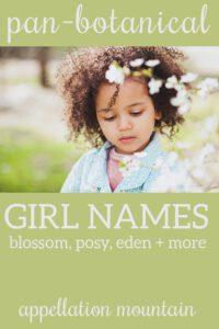 botanical girl names