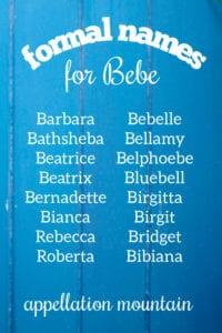Bebe Nicknames