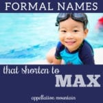 formal names for Max