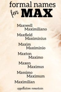 Max Names