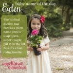 Eden: Baby Name of the Day