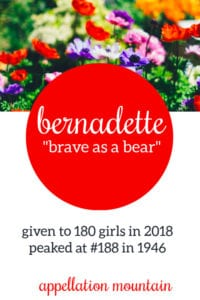 Bernadette: Baby Name of the Day