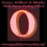 Coco, Willow, and Marlowe: Girls Names Ending With O