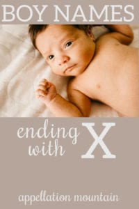 boy names ending with X