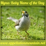 Myna: Baby Name of the Day