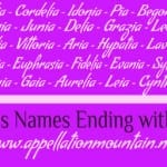 Adalia to Zinnia: Girls Names Ending with ia