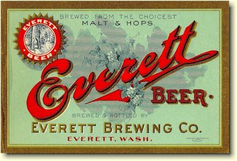 Everett beer label
