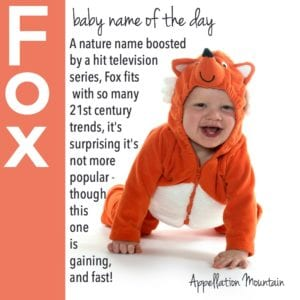 Fox: Baby Name of the Day