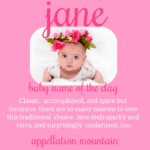 Jane: Baby Name of the Day