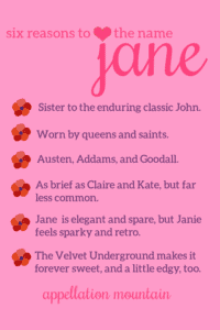 baby name Jane