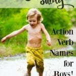 Chase and Sway: Action Verb Names for Boys