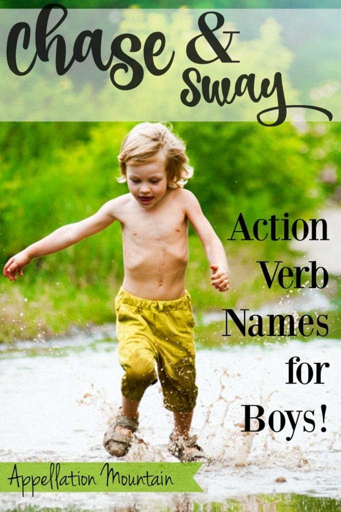 chase and sway - action verb names for boys