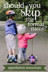 Should you skip the formal name?