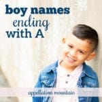 Boy Names Ending with A: Luca, Ezra, Koa