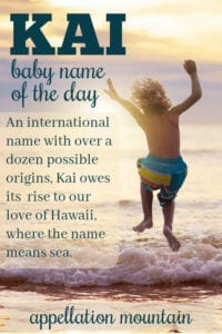 Kai: Baby Name of the Day