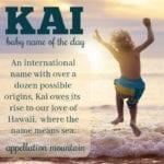 Kai: Baby Name of the Day