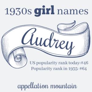 1930s Names: Audrey