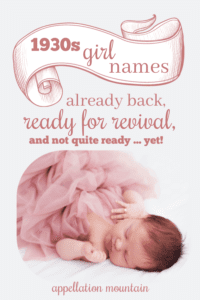 1930s names for girls