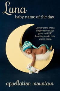 vLuna: Baby Name of the Day