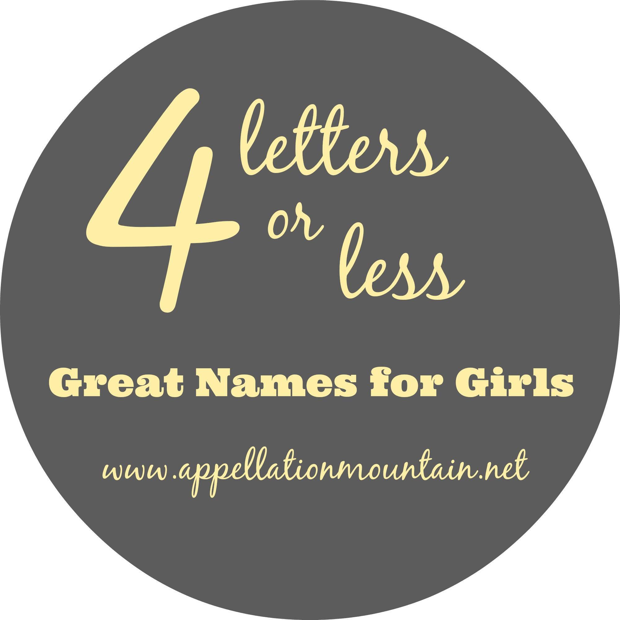 A to Z: Short Names for Girls - Appellation Mountain